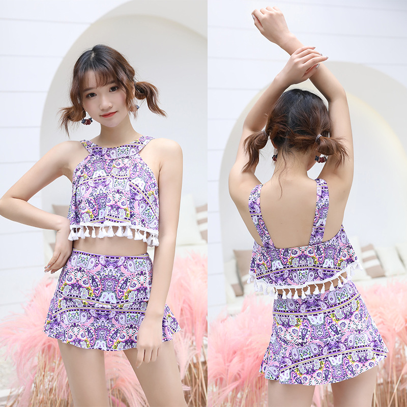 [Manufacturers Direct Selling] New Style KID'S Swimwear Ethnic-Style Camisole Split Type GIRL'S Swimsuit Hot Springs Beach Tour