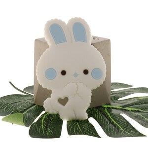 Image 5 - Fkisbox 10 Bộ Gặm Nhấm Silicone Thỏ Bé Xúc Xắc Thỏ KHÔNG CHỨA BPA Trẻ Sơ Sinh Nhai Hạt Mọc Răng Phụ Kiện Vòng Cổ Mặt Dây Chuyền Đồ Chơi