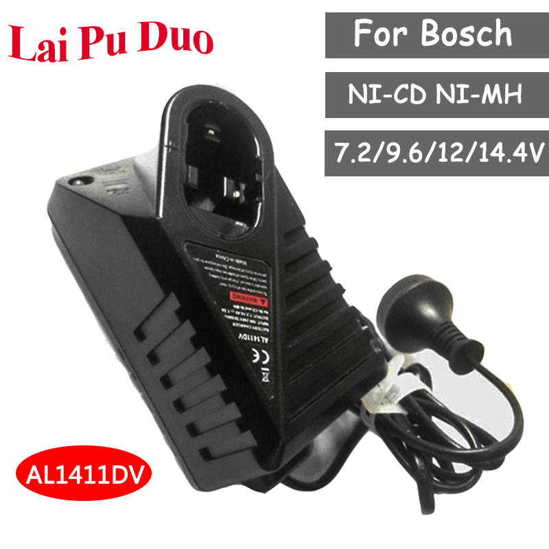 Charger For Bosch 7 2V GSR9 6 12V 14 4V Replacement Power Tool Battery Charger NI-CD NI-MH AL1411DV GSR7 2-2GSB12-2GSR12-2
