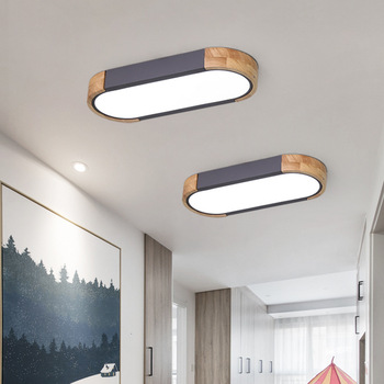 Акриловые Потолочные светильники, квадратные кольца для гостиной, спальни, дома, AC85-265V, современные светодиодные потолочные светильники, бл...