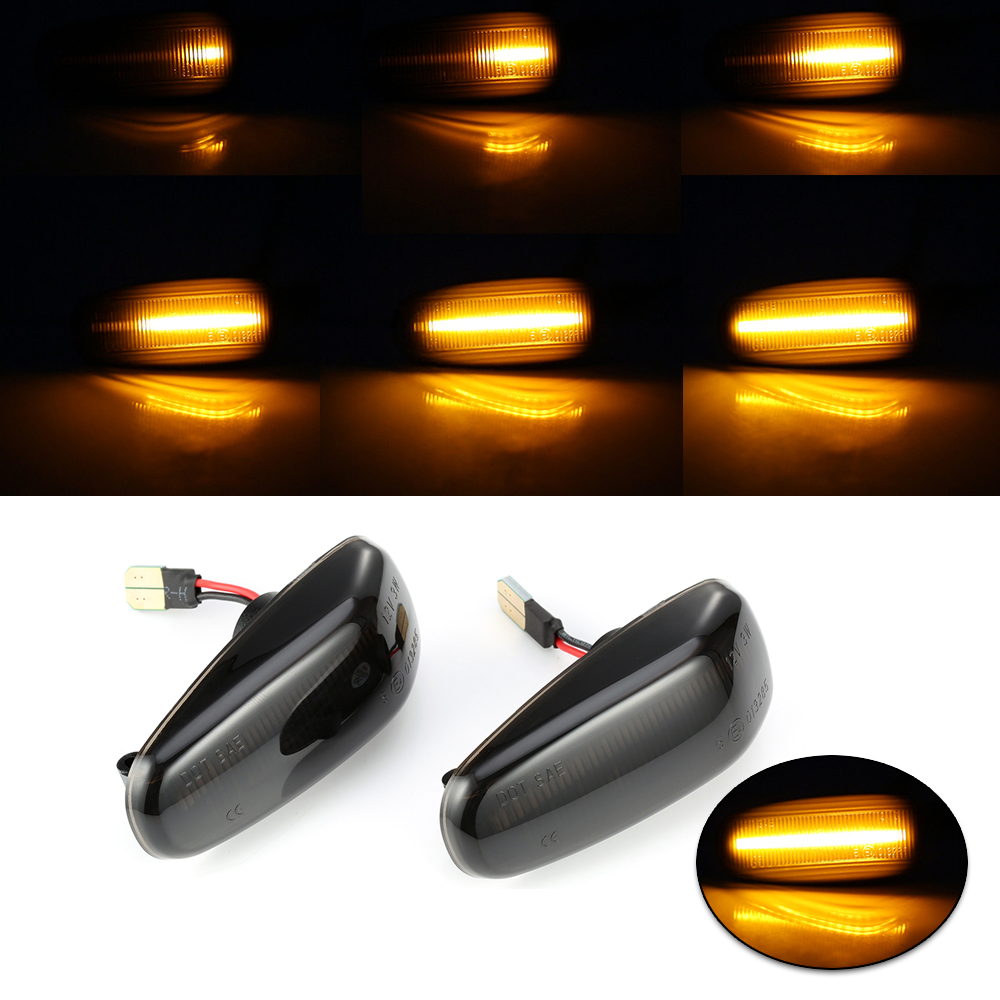 2pcs Car Left & Right <font><b>LED</b></font> Side Marker Turn Signal Lights Lamps For Mercedes-Benz W210 <font><b>W202</b></font> W208 R170 W638 Turn Signal Light Lamp image