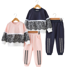 girls children clothing spring children clothing top solid single button three quarter sleeve jackets pants kids blazer sets JXYSY Girls Clothing Sets spring and autumn Active girls clothes Children Clothing Cartoon Print Sweatshirts+Pants Suit 3-7Y
