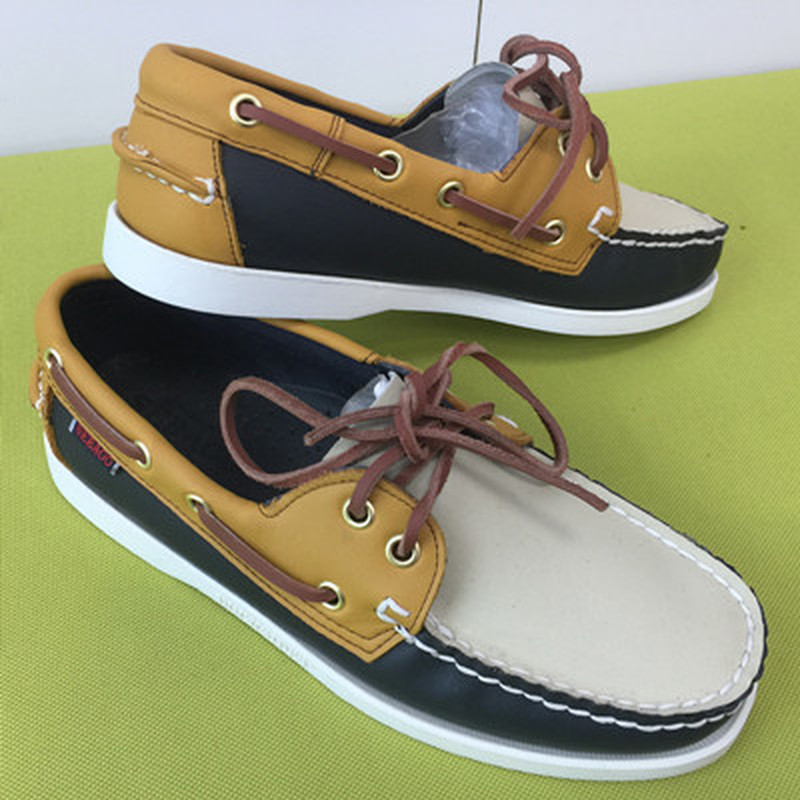 Mens Casual PU Leather Docksides Deck Lace Up Moccain Boat Loafers Shoes Driving Fashion Unisex Plus Size 22Colors