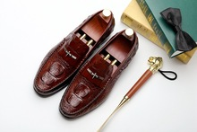 New Summer Fashion Loafers Shoes Genuine Leather Men's Crocodile