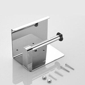 Image 5 - Porta carta igienica ROVOGO SUS 304 in acciaio inossidabile con ripiano per telefono, porta rotolo di carta igienica per bagno
