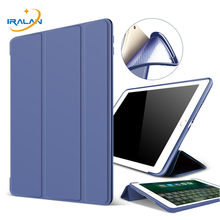 Etui do ipada Pro 10.5 cala smart auto Sleep/Wake tri-fold stojak na ipad Air 3 10.5 2019 miękkie silikonowe plecki tpu Cover + Film + długopis(China)