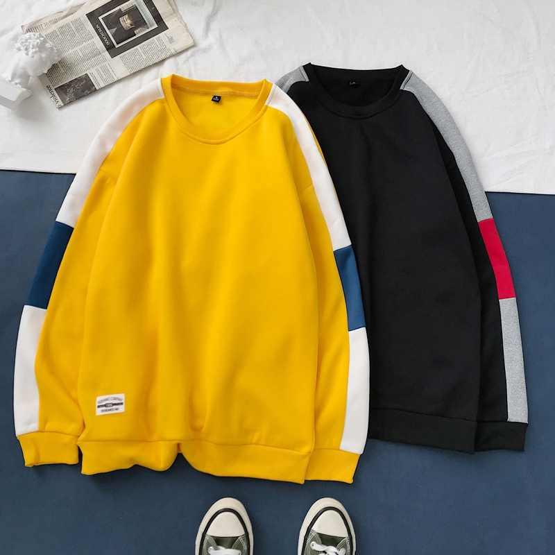 패션 남성 후드 힙합 가을 남성 패치 워크 스웨터 후드 트랙 슈트 남성 Streetwear Hoody 브랜드 의류 화이트 블랙