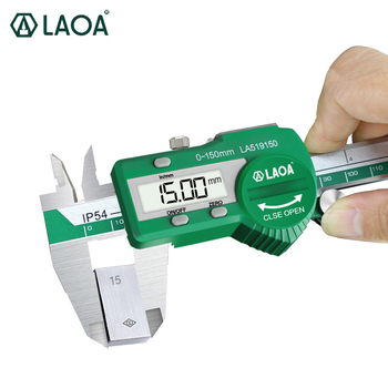 LAOA Digital Vernier Caliper Waterproof Stainless Steel Electronic Measurement 0-150mm Measuring Tool Measuring ruler