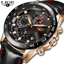 Mens Watches LIGE Top Brand Luxury Male Fashion Quartz Wrist Watch Mens Casual L