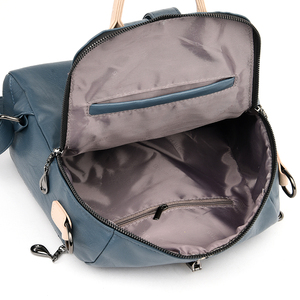 Image 5 - Fashion Backpack Women Soft Leather Backpack Female White High Quality Travel Back Pack School Backpacks for Girls Sac A Dos Hot