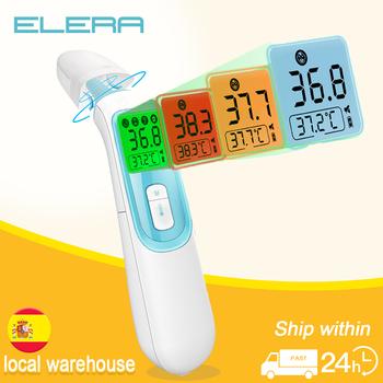 Cyfrowy termometr na podczerwień ELERA czoło gorączka ciała Termometre wielofunkcyjne bezdotykowe urządzenie pomiarowe temperatury tanie i dobre opinie Z Chin Kontynentalnych NONE TERMOMETRY