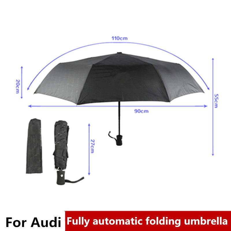 1pc Pliant Résistant Au Vent Parapluie Automatique Pour Audi A3 A4 B6 B8 B7 B5 A6 C5 Q5 A5 Q7 TT A1 S3 S4 quattro sline Accessoires