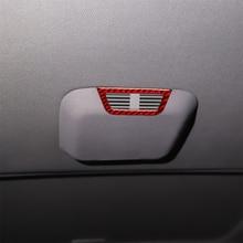цена на Carbon Fiber Interior Decal Frame Cover Trim for BMW E46 315 318 320 325 330 M3 1998-2005 Rear Seat  Roof Air Vent 2pcs Stickers