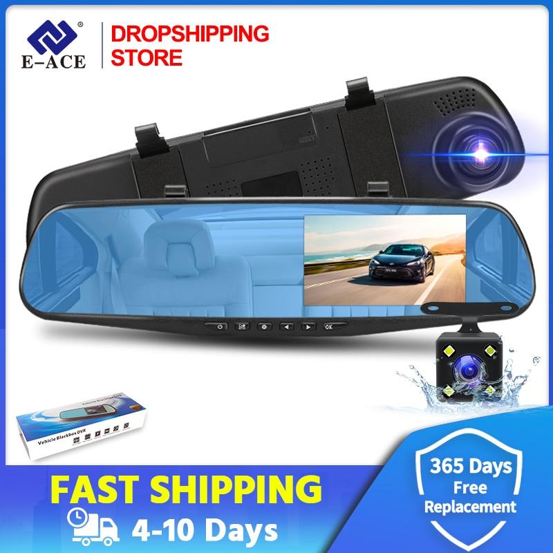 Car Dvr 4.3 Inch Full HD 1080P Automatic Camera Digital Video Recorder Dual Lens Rear View Mirror Dash Cam