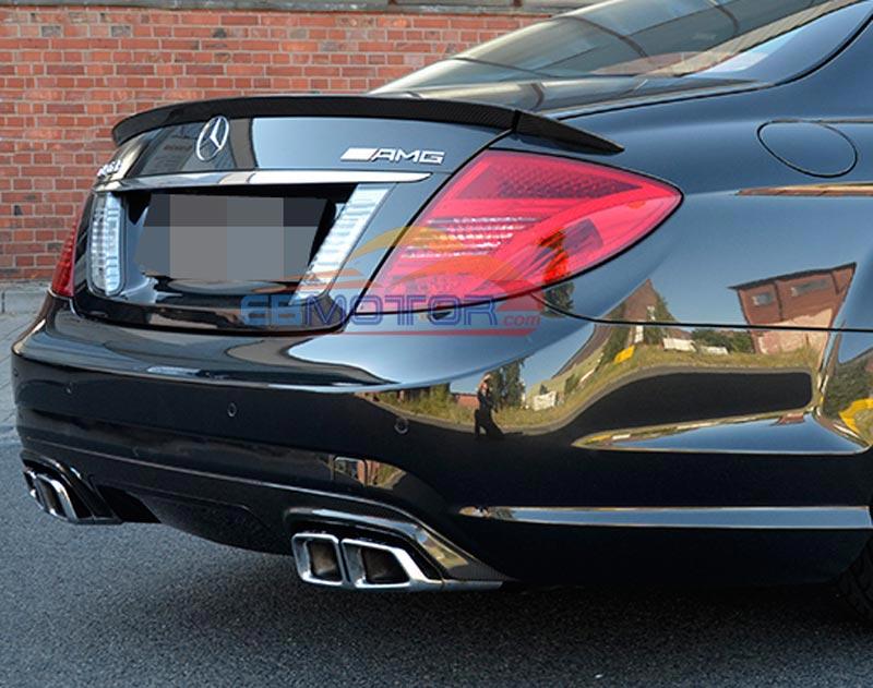 REAL CARBON FIBER B Style 3PCS REAR WING TRUNK lip SPOILER for BENZ W216 CL-CLASS CL500 CL600 C65 Coupe 07-13 M074
