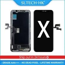 AAA + + + dla iPhone X XR XS MAX OLED z ekranem dotykowym Digitizer montaż nie martwy piksel wyświetlacz LCD wymiana gwarancji