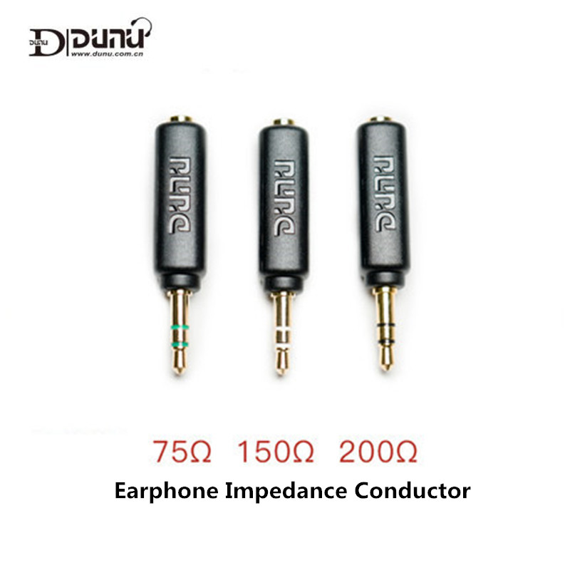 DUNU Conductor Earphone Impedance Plug 75 150 200 ohm Noise Cancelling Adapter 3 5mm Jack Resistance Reduce Noise Filter Plug