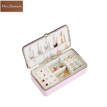 Mrs.Shawn Travel jewelry packing box makeup organizer Jewelry box earrings display rings organizer jewellry casket carrying case