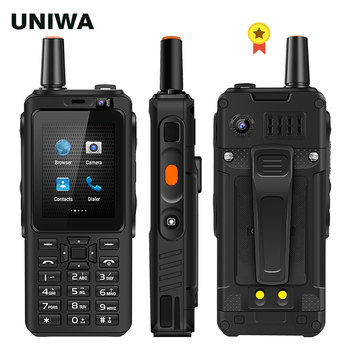 UNIWA F40 Zello Walkie Talkie 4G Mobile Phone 4000mAh Waterproof Rugged 2.4'' Touch Screen Quad Core Android Smartphone - discount item  32% OFF Mobile Phones