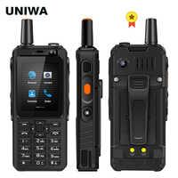 "UNIWA F40 Zello Walkie Talkie 4G teléfono móvil 4000mAh impermeable resistente 2,4 ""Pantalla táctil Quad Core Android 4G Smartphone"