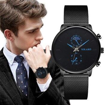 2019 Mens Watch Stainless Steel Quartz Wristwatch High Quality Casual Clock montre homme erkek kol saati zegarek meski relgio %N