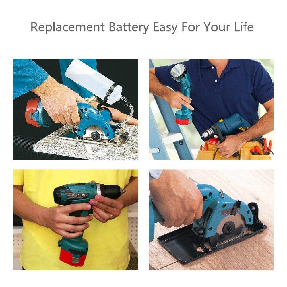 2 uds Makita 12V 3.0Ah NiMh batería de repuesto para 1220 1222 1234 1235 192598-2 PA12 12 voltios NiCd batería de herramientas eléctricas inalámbricas - 6