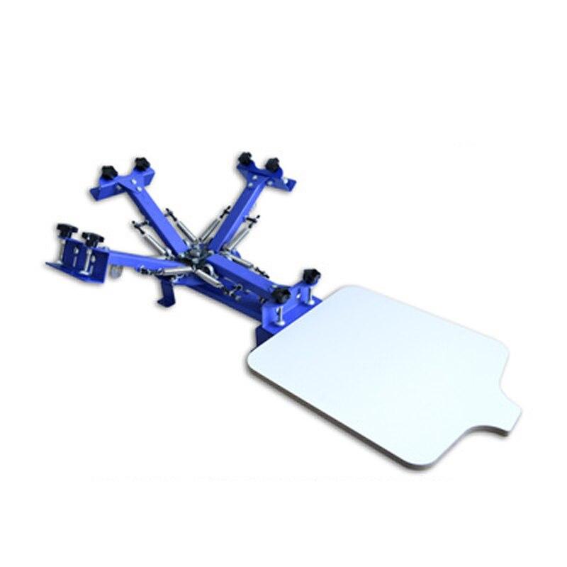 1PC Schermo del Desktop Stampante Macchina Stampante Desktop Semplice Manuale Singola ruota di Rotary Guaina Panno di Schermo Macchina da Stampa