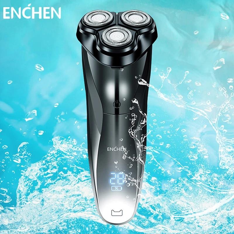 Enchen 3D Men Electric Shaver Razor BlackStone3 IPX7 Waterproof Wet & Dry Dual Use LCD 3D Smart Control Shaving Beard Machine