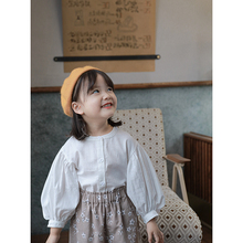 Shirt Spring Long-Sleeve Baby-Girl Children New Autumn And Top Simple
