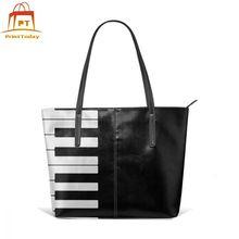 Piano bolsa de piano superior alça sacos shopper grande capacidade bolsa de couro impressão adolescente mulher na moda bolsas femininas