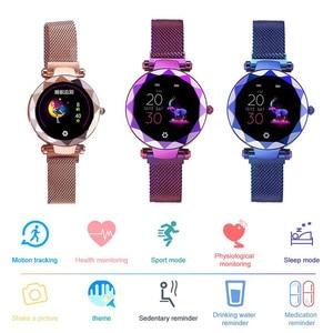 Image 3 - Lady HI18 Dress IP67 Waterproof Women Smart Bracelet Heart Rate Monitor Fitness Tracker Women Watch Wristwatch Band
