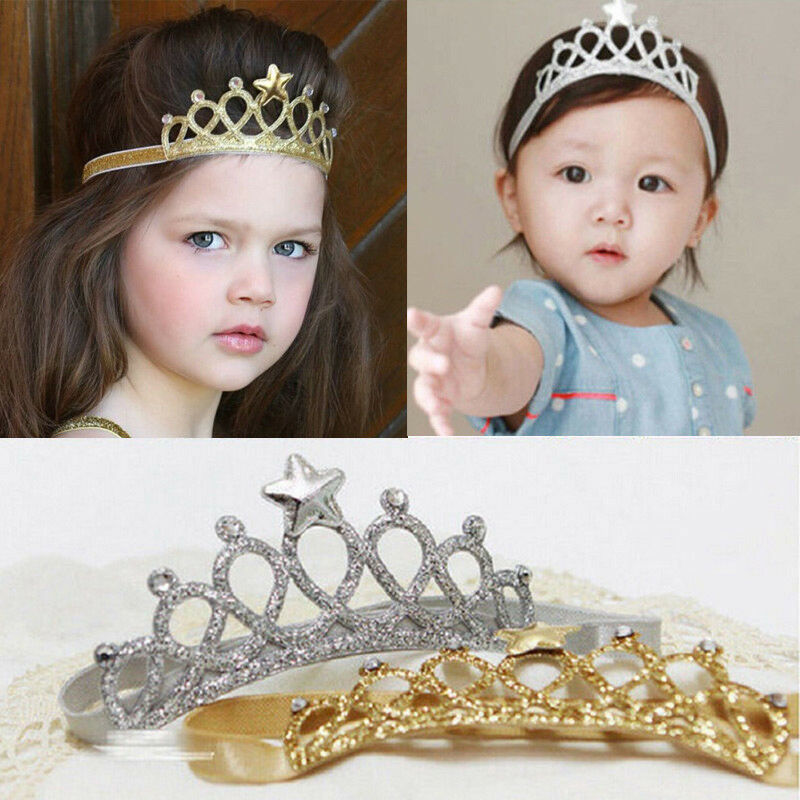 Kids Fashion Party Hair Accessories Baby Girl Crown Hairband Toddler Birthday Headband Tiara