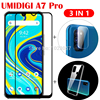3-in-1 Case + Camera Tempered Glass On UMIDIGI A7 A7 A9 Pro ScreenProtector Glass For UMIDIGI A7 Pro3D Glass 1