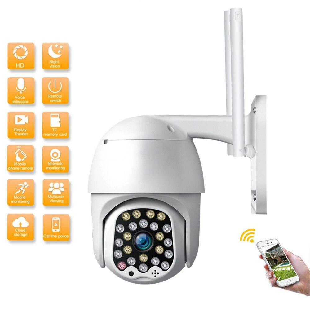 1080P 23 Leds Wireless Wifi IP Camera Outdoor Speed Dome PTZ Security Camera Pan Tilt Zoom 2MP Network IR CCTV Home Surveillance