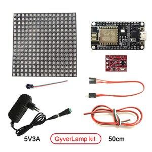 Image 2 - מטריקס 16x16 DIY GyverLamp LED דיגיטלי גמיש מיעון בנפרד פנל פיקסל אור תצוגת לוח WS2812B DC5V