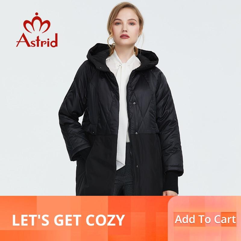 Astrid 2019 가을 새로운 도착 여성 바느질 패션 자 켓 겉옷 고품질 새 패션 가을 코트 여성 am 9203-에서파카부터 여성 의류 의  그룹 1