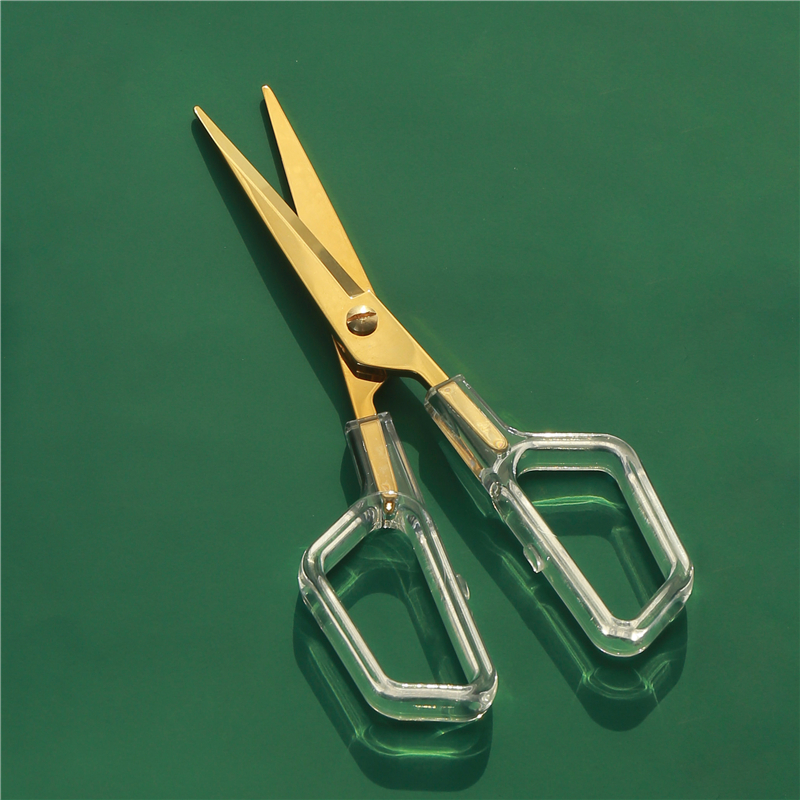 Luxury Golden School Scissors Minimalist Fashion Metal Design Office Household Acrylic Scissors Kawaii Korean Stationery