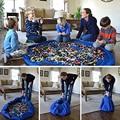 ZUCZUG Новые портативные детские игрушки быстрая сумка для хранения и игровой коврик Lego Игрушка луч Карманный модный Практичный Водонепрониц...