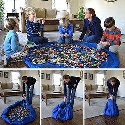 ZUCZUG New Portable Fast Storage Bag Child Toys Game Lego Toy Beam Pocket Large Practical Waterproof Portable Organizer Bag