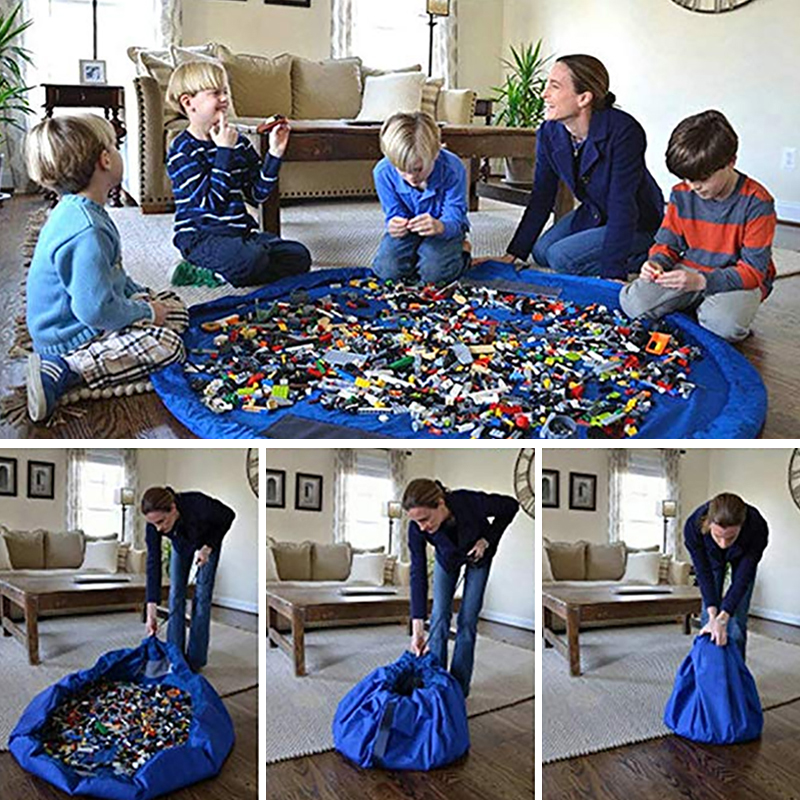 ZUCZUG  Novo portátil crianças brinquedos saco de armazenamento rápido e jogo almofada lego brinquedo feixe bolso moda prático à prova dwaterproof água portátil armazenamento