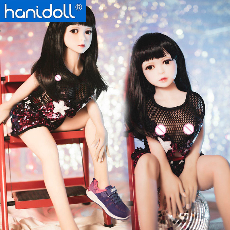 Hanidoll 100cm mini Silicone Sex Doll Japanese Love Metal Skeleton Full Sized Realistic Vagina Breast Masturbator doll