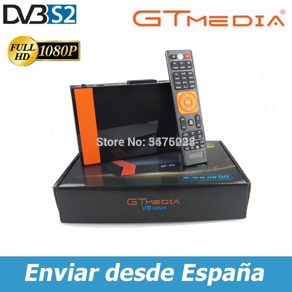 Горячая Распродажа Gtmedia V8 NOVA DVB-S2 Встроенный Wi-Fi Gtmedia V8X Встроенный Wi-Fi H.265 1080P Высокое качество без приложения