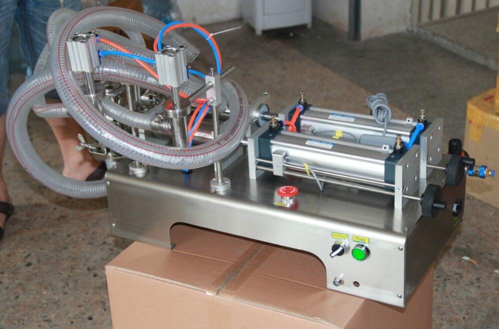 Podwójne głowice tłok pneumatyczny napełniacz do płynów szampon woda wino mleko sok ocet do kawy oleju napój maszyna do napełniania detergentów