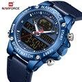 NAVIFORCE мужские часы Топ люксовый бренд спортивные цифровые наручные часы водонепроницаемые с двойным дисплеем военные мужские часы Relogio ...
