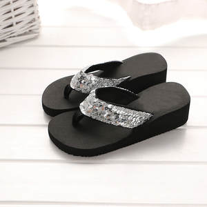 Flat Sandals Shoes Slippers Flip-Flops Glitter Anti-Slip Beach-Flip Summer Casual