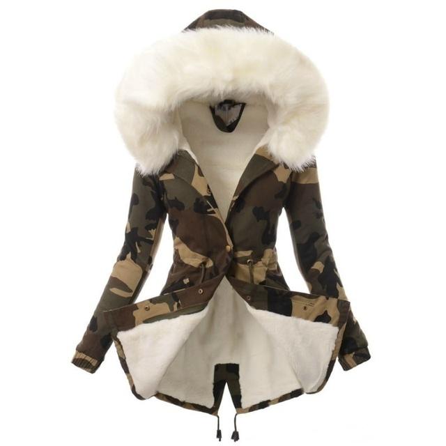 ZOGAA Fashion Women's Long Parka Winter Warm Thicken Faux Fur Hooded Coat Casual Cotton Slim Fit Jacket Overcoat Women's Outwear