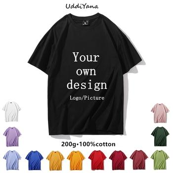 Niestandardowy T-Shirt 100 z wysokiej jakości bawełny moda damska męska koszulka DIY twój własny projekt marka nadruk Logo ubrania pamiątka odzież zespołu tanie i dobre opinie SONDR CASUAL SHORT CN (pochodzenie) COTTON Cztery pory roku Młodzieńcza witalność Z okrągłym kołnierzykiem tops Z KRÓTKIM RĘKAWEM