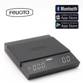 Felicita Incline Coffee Scale Smart Electronic Scale Bluetooth Hand Punch Drip Coffee Scale with Timer 2KG