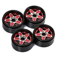"INJORA 4PCS 2.2"" Metal Beadlock Five-pointed Star Wheel Hub Rim for RC Crawler Car Traxxas TRX4 TRX6 Axial SCX10 RR10 Wraith 4"