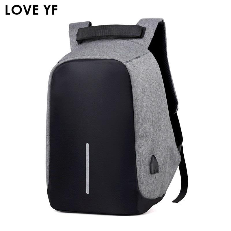 Men 15.6 Inch Laptop Notebook Backpack Waterproof Travel Backpack USB Charging Anti Theft Backpack Student School Shoulder Bags